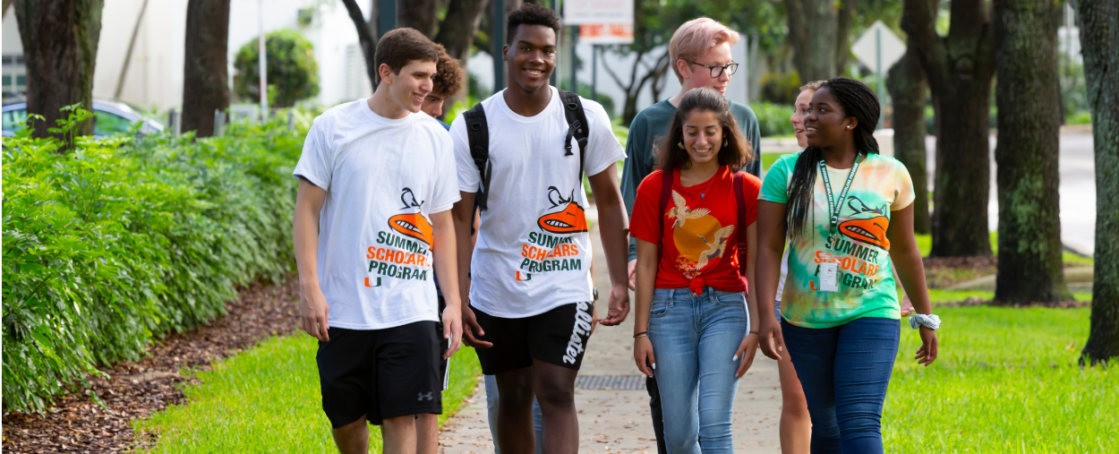 university of miami summer scholars walking on campus